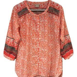 ExOfficio Next-to-Nothing Geo Print Shirt LARGE